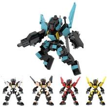 5.9 Inches Armor Soldier Robots Building Blocks Toys For Children Mecha Warrior Anime Figure Model Action Figure Block Dolls