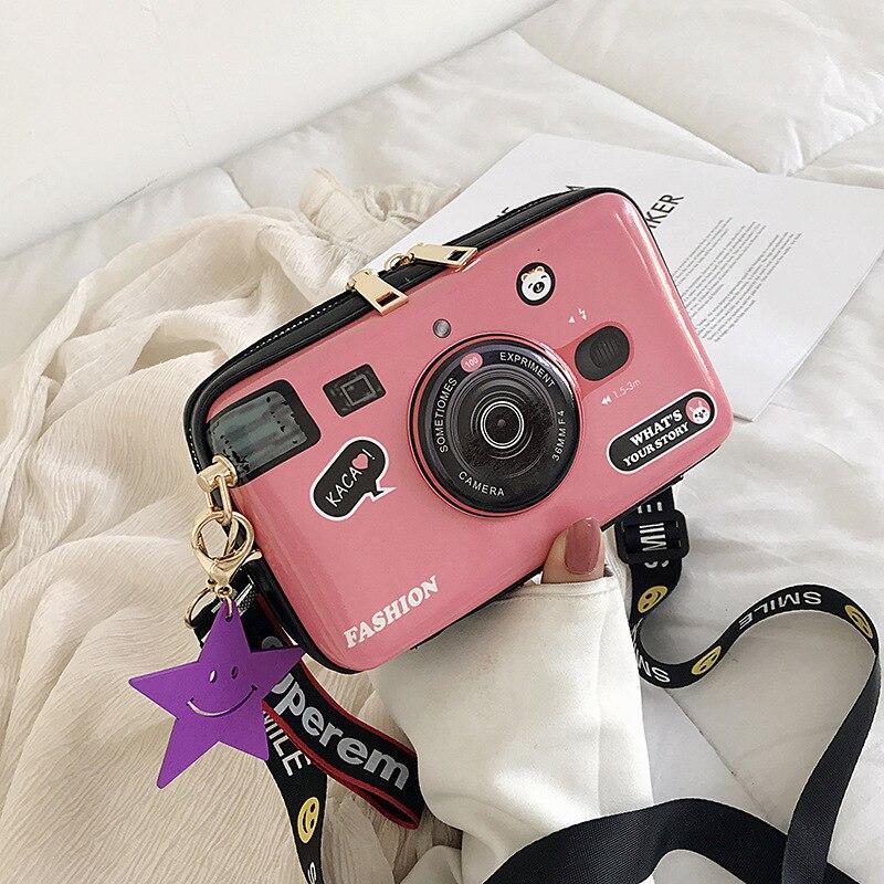 Forma da Câmera Bolsa de Viagem Yambuto Nova Senhora Feminina Ombro Crossbody Bolsa Meninas Pequeno Quadrado Telefone Moeda Embreagem 2020