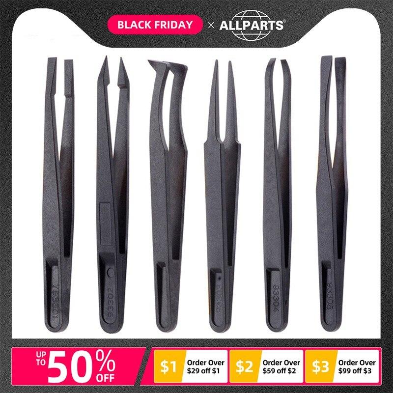 Anti-static Carbon Fiber ABS Plastic Tweezers Repair Tools For Mobile Phone And Tablets Disassembling Tweezer Precision Tool #4