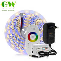 5M 5050 HA CONDOTTO La Striscia DC12V RGB/RGBW/RGBWW Flessibile Nastro di Luce 300 LED di Colore RGB HA CONDOTTO La Striscia set + Telecomando + Adattatore di Alimentazione
