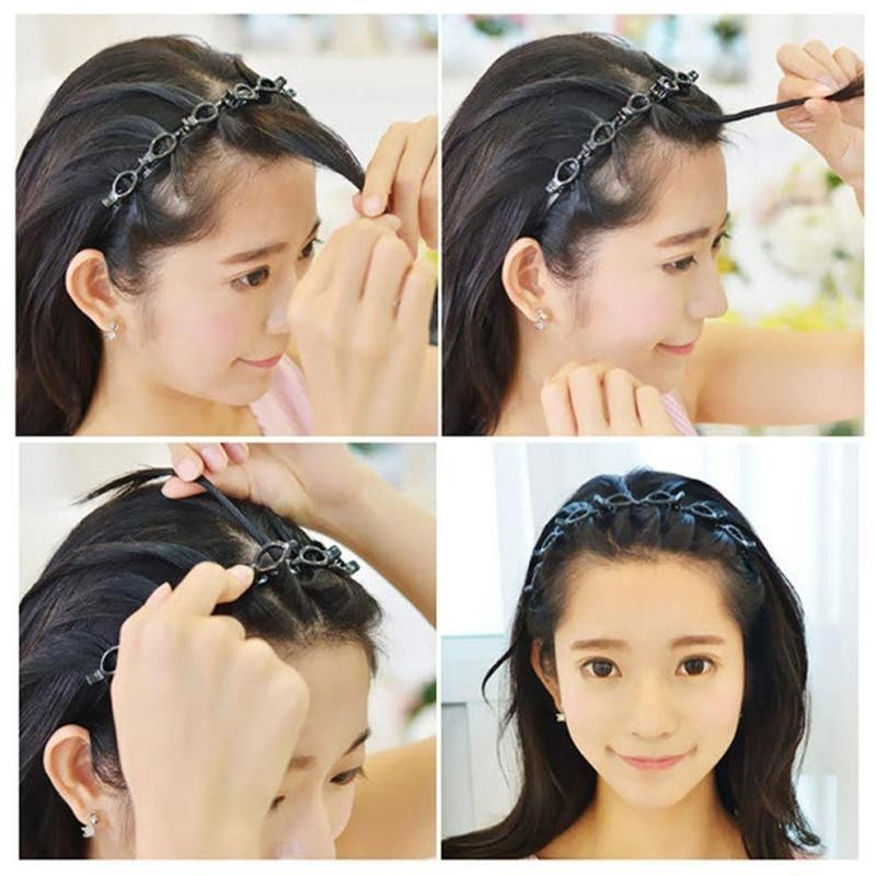 Bangs Hairpin Headband With 8pcs Clips Fashion Wave Zigzag Band Notched Comb Headbands Women Braid Hairstyle Hair Accessories Women S Hair Accessories Aliexpress