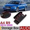 Для Audi A4 B9 A4 8 Вт RS4 S4 S line RS 4 2016 ~ 2020 подлокотника коробка для хранения  автомобильный Органайзер аксессуары 2017 2018 2019