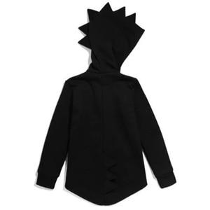 Image 5 - 1 7 T Jungen Mädchen Hoodies Frühling Herbst Oberbekleidung Kinder Dinosaurier Mit Kapuze Sweatshirt Kleidung Kinder Langarm Pullover Tops mantel