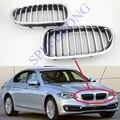 2 шт./пара RH и LH Решетка переднего бампера Решетка для почек хромированная для BMW 5 серии F10/F18 новая модель 2014-2015