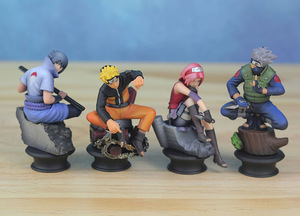 Image 4 - 6 PCS PVC Anime Naruto Action Figures Dolls Set New Uzumaki Naruto Uchiha Sasuke Hatake Kakashi Model Collection Gift Toys