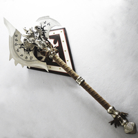 [Metal Made] 1:1 110cm WOW The Shadowmourne Axe alloy model Lich King Arthas FROSTMOURNE'S Brother weapon collection Model gift