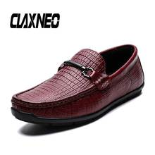 CLAXNEO Man Moccasins Genuine Leather Summer Mens Shoes Slip on Male Casual Footwear Boat Shoe Loafers