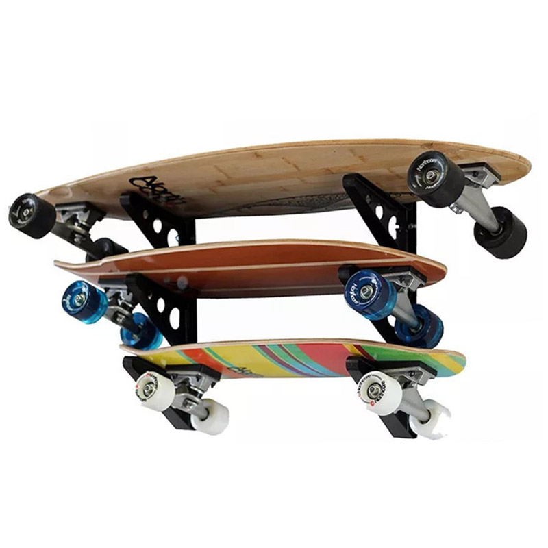Skateboard Racks Wall Storage Holder Mount Hanger Hooks Indoor Show Stands Fit All Size Skateboard Longboard Hockey Stick
