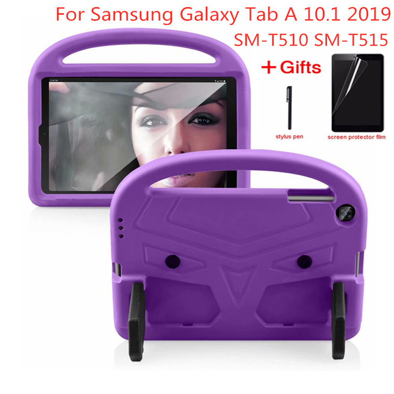 EVA Portable Stand Kids Safe Foam Shockproof Tablet Cover For Samsung Galaxy Tab A 10.1 2019 SM-<font><b>T510</b></font> SM-T515 <font><b>T510</b></font> T515 <font><b>Case</b></font> image