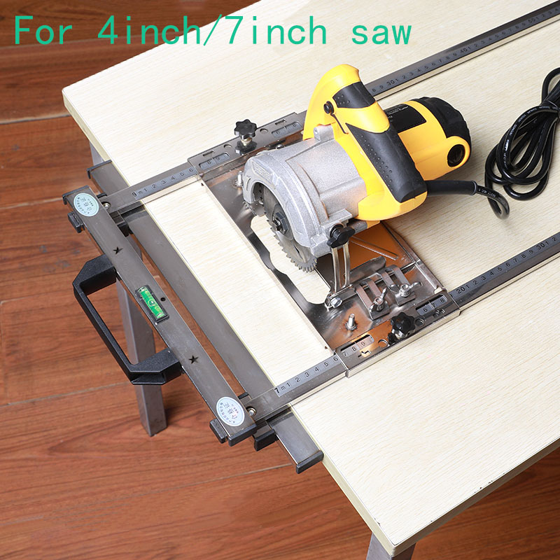 For 4inch 7inch Electricity Circular Saw Trimmer Machine Edge Guide Positioning Cutting Board Tool Router Circle Milling Groove