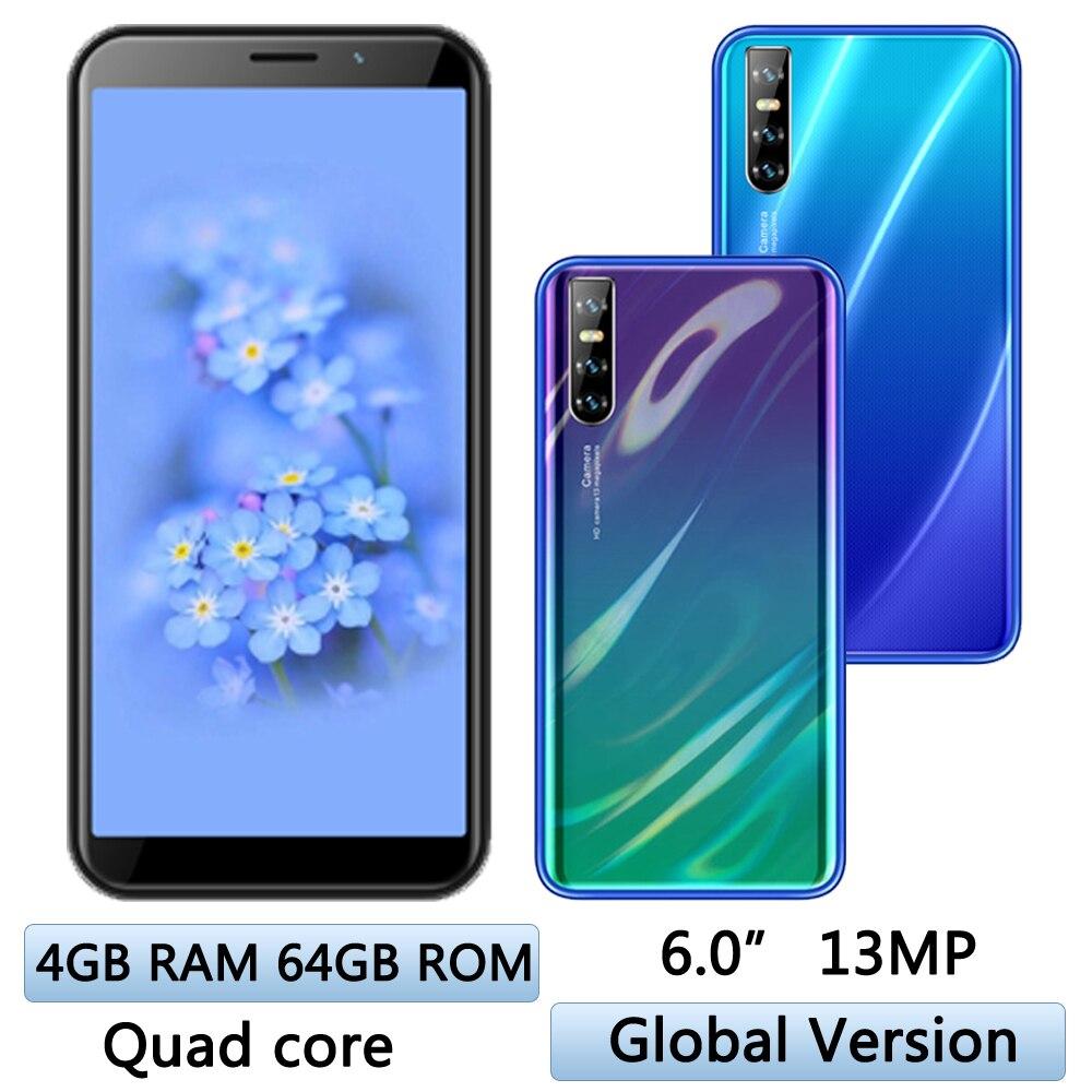8A смартфонов Face ID 4G Оперативная память 64G Встроенная память Android 4 ядра 6,0 дюймов мобильные телефоны MTK 2SIM разблокирована Celulares Оригинальные С...
