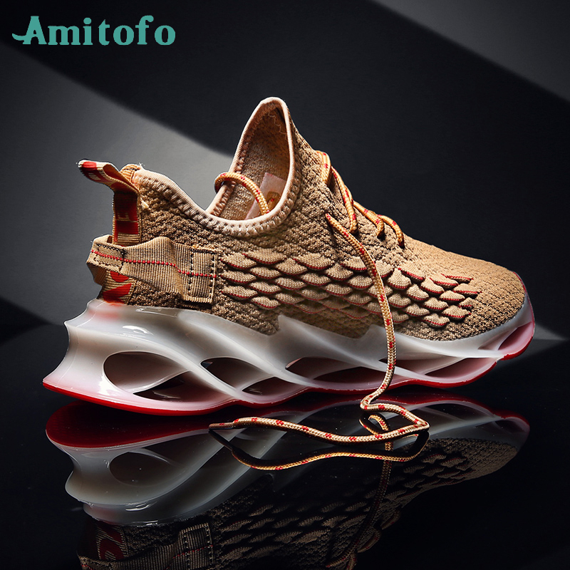 2020 New Blade Shoes Men Outdoor Running Jogging Walking Sports Shoes Lace-up Athietic Man Sneakers Zapatillas Masculino Hombre