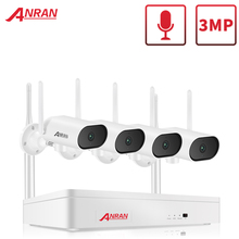 ANRAN Wireless Security Pan & Tilt Camera Kit 3MP cctv Video Kit 4CH NVR Night Vision