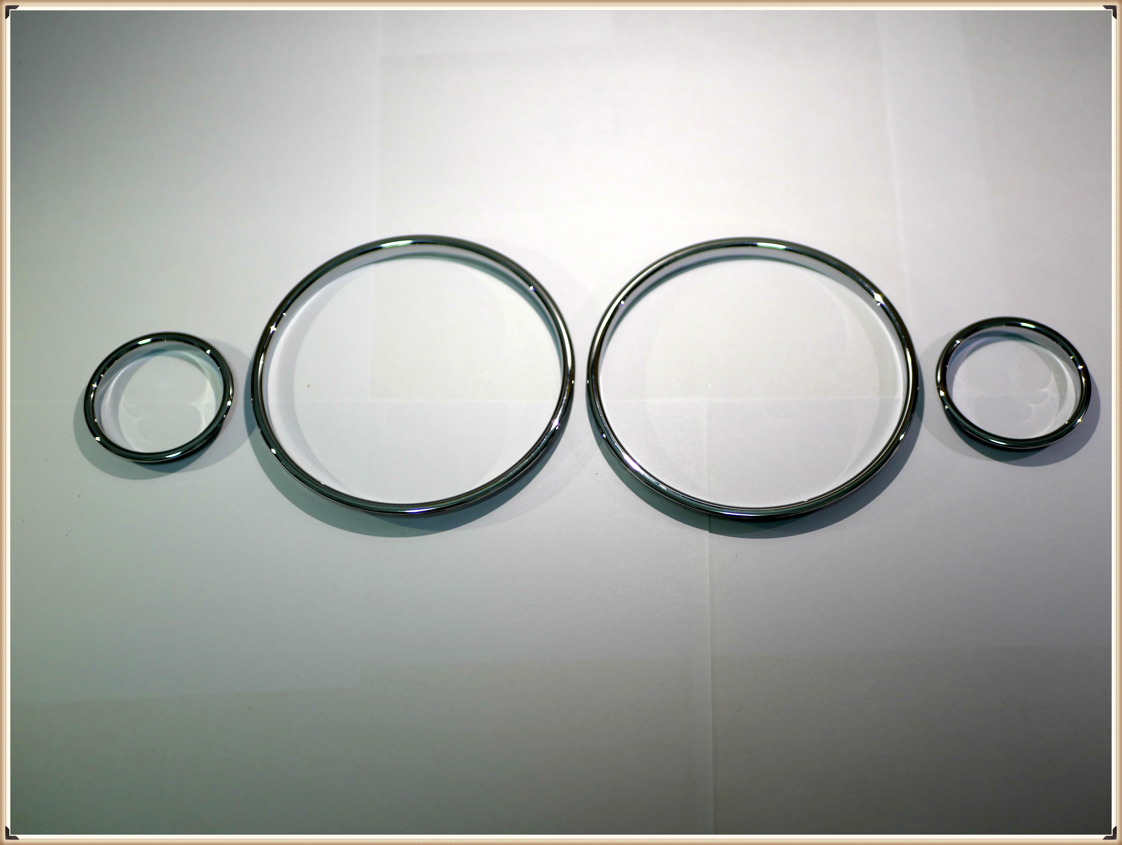 Carbon fiber Cluster Gauge Dash Ring DashBoard fits BMW M Style E38 E39 E53 X5
