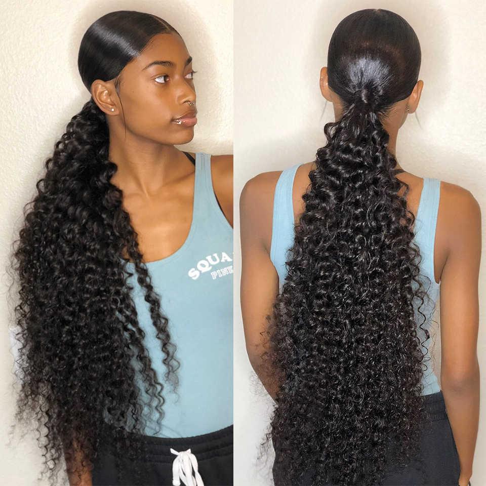 34 38 40 inç brezilyalı saç örgü demetleri kıvırcık insan saçı demetleri 1/3/4 adet derin dalga Remy İnsan kadınlar için saç uzatma