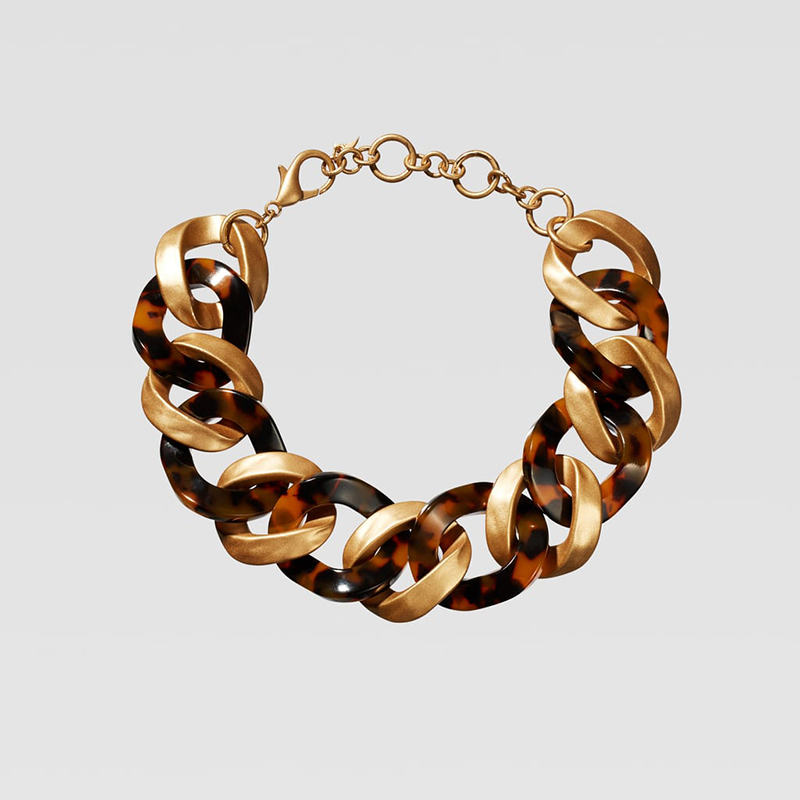 Dvacaman ZA, золотое ожерелье на цепочке, Чокеры для женщин, металлическое круглое звено, массивное ожерелье, s макси панк, модные вечерние ювелирные изделия - Окраска металла: 5