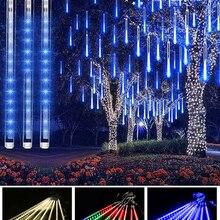 30cm/50cm LED Meteor Shower Garland Holiday Strip Light Outdoor Waterproof Fairy Lights