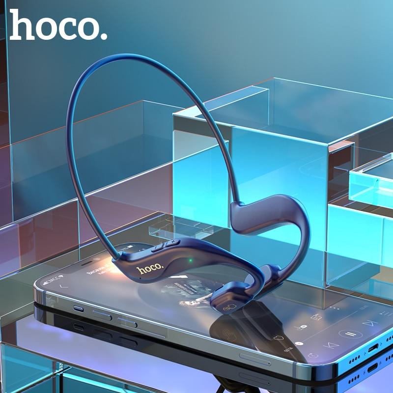Беспроводные Bluetooth наушники HOCO с воздушной проводимостью, стереогарнитура, спортивные наушники, титановые водонепроницаемые наушники для ...