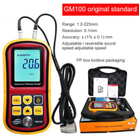 Car Paint Testering Measuring Instruments Ultrasonic Thickness Gauge 1.2 220mm Steel Thickness GM100 Thickness Tester