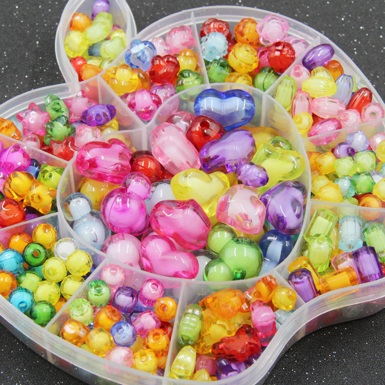 Children Jewelry Handmade DIY Early Education Beaded Bracelet Gift Box Loose Beads Weak Sight Training Educational Toy