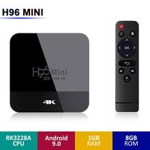 H96 MINI H8 Android TV Box RK3228A 2G RAM 16G ROM 5G WIFI bluetooth 4.0 9.0 4K prise en charge de la commande vocale HD Youtube