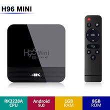 H96 MINI H8 تي في بوكس أندرويد RK3228A 2G RAM 16G ROM 5G واي فاي بلوتوث 4.0 9.0 4K التحكم الصوتي دعم HD يوتيوب