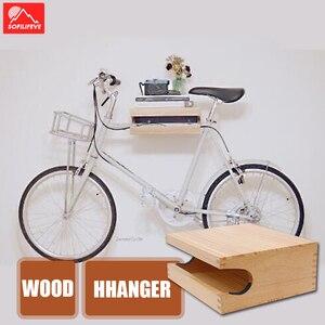 Wood Bike Wall Mount Bicycle C