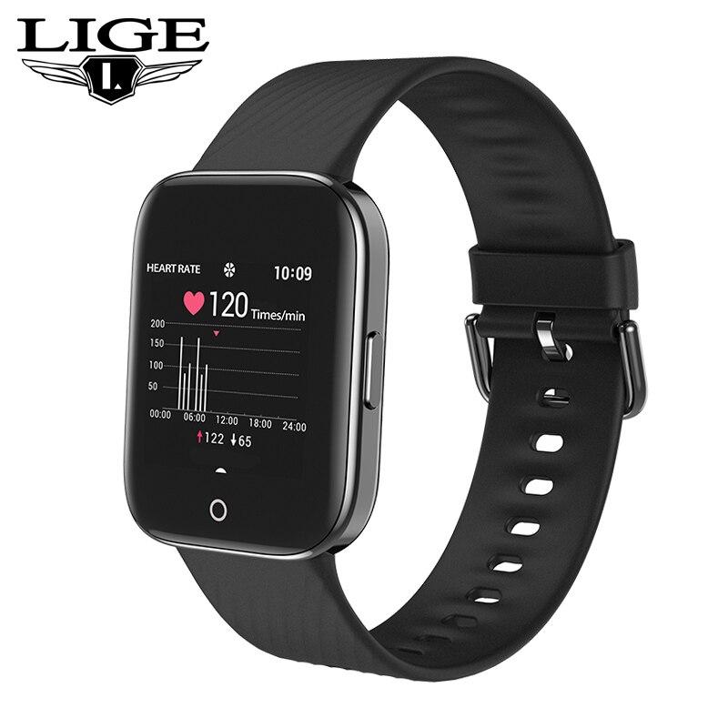 2019 nuevo reloj inteligente hombres Mujer Deporte Monitor de ritmo cardíaco IP68 resistente al agua reloj inteligente recordatorio de llamada relojes de Fitness para Android IOS