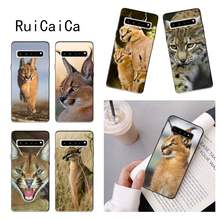 RuiCaiCa chats Animaux Tête Caracal Housse de Téléphone pour samsung a30 A30S a51 a50 a71 A40 A70 A21 A21S a11 a91(China)