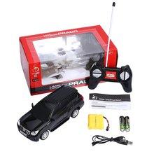 Kid Toys 1:24 Scale LED Lights Radio Control Land Cruiser Model Car
