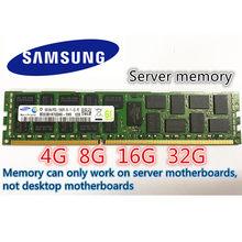 Samsung RAM GB GB 16 8 4GB DDR3 PC3 1333Mhz 1600Mhz 1866MHZ memória Do Servidor 32 16 8G G G 1333 1600 1866 ECC REG 10600 12800 14900R