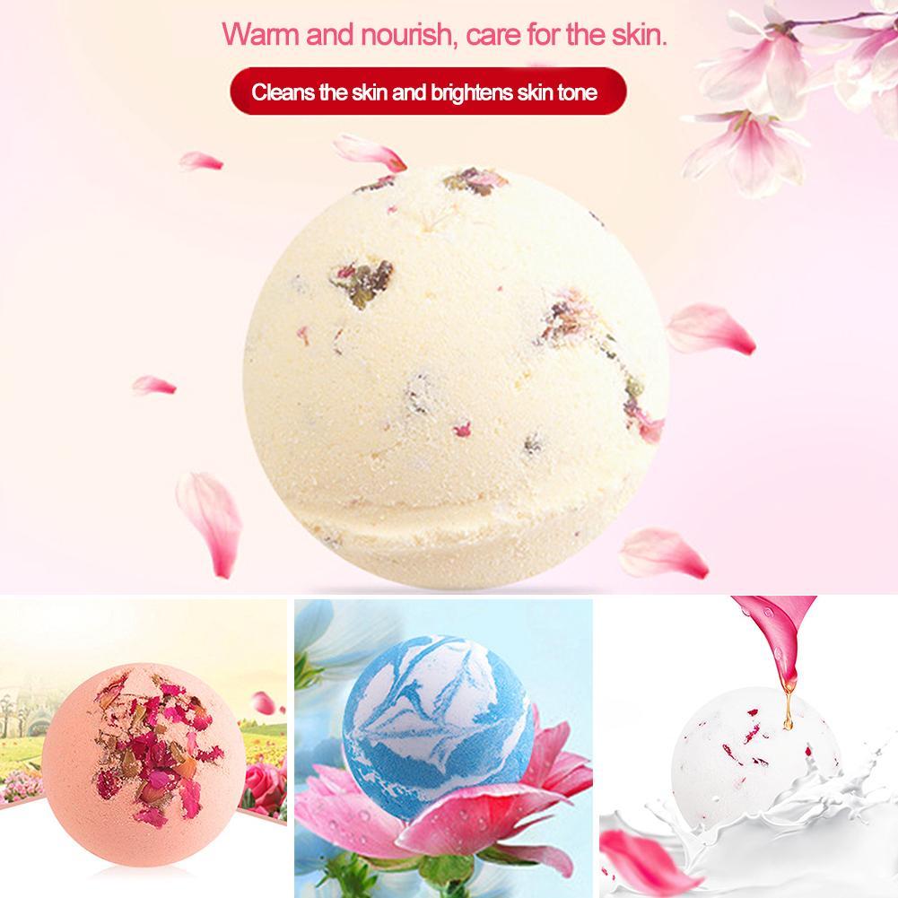 New 1pc 10g Bath Ball Natural Bubble Bath Bombs Body Essential Oil Bath Ball Rose/Green Tea/Lavender/Lemon/Milk