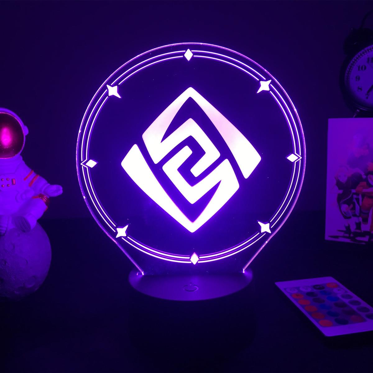 Genshin-figura de jogo de impacto, luminária para
