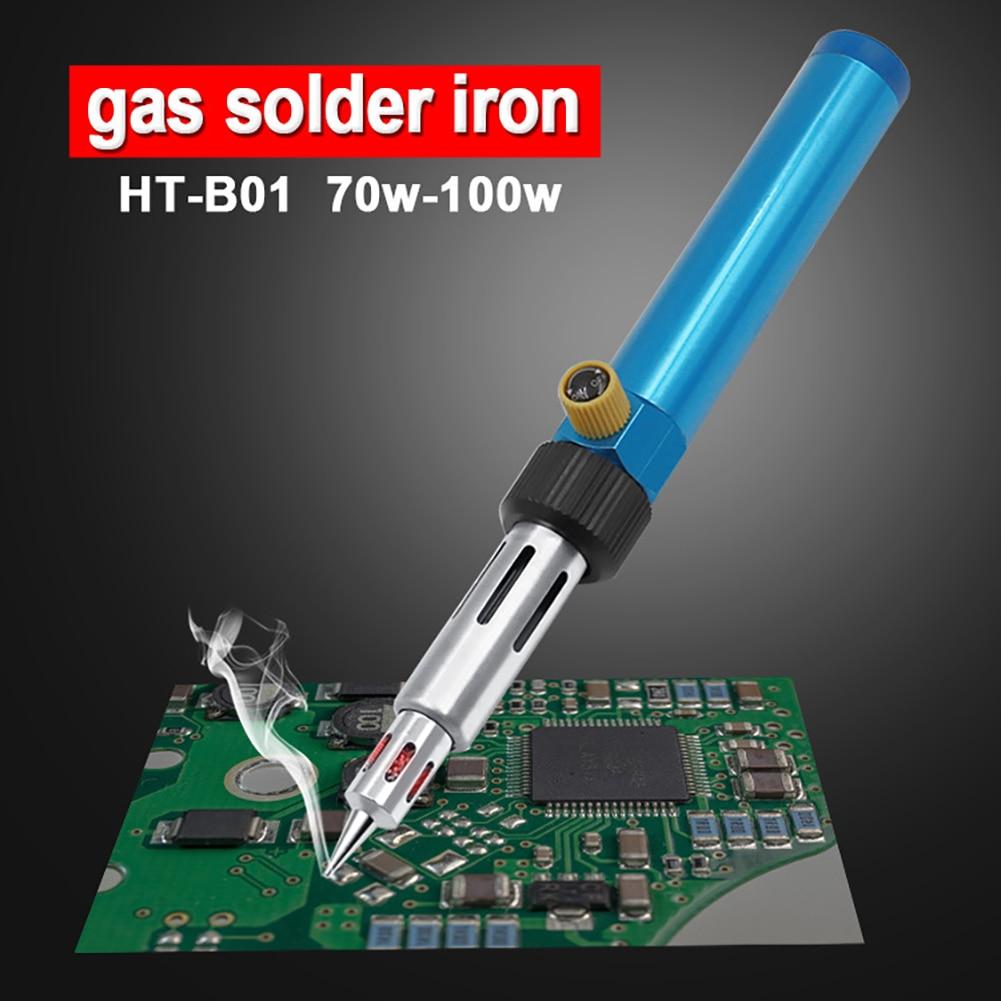 Adjustable Temperature Gas Soldering Iron Cordless Welding Pen Burner Butane Blow Torch Solder Iron Hot Air Gun Soldering Tool