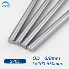 2pcs 6mm 8mm Linear Shaft Guide Rail 3d Printer Parts Cylinder Chrome Plated Liner Rods Axis Linear Shaft Round Rod L100 200 300