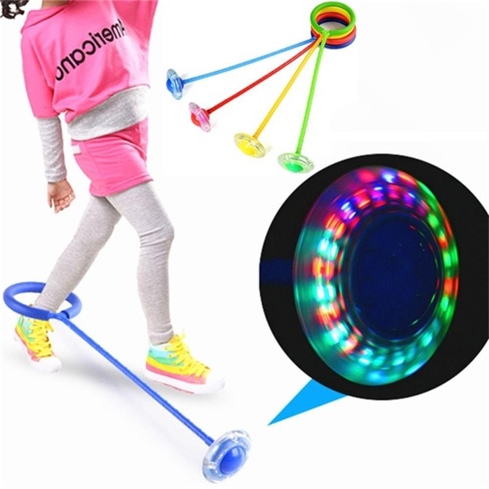 Colorful Ankle Swing Ball LED Flashing Jumping Ropes Ball Sports Toys For Fitness Exercise Workout Game Gift Fits Kids Adults