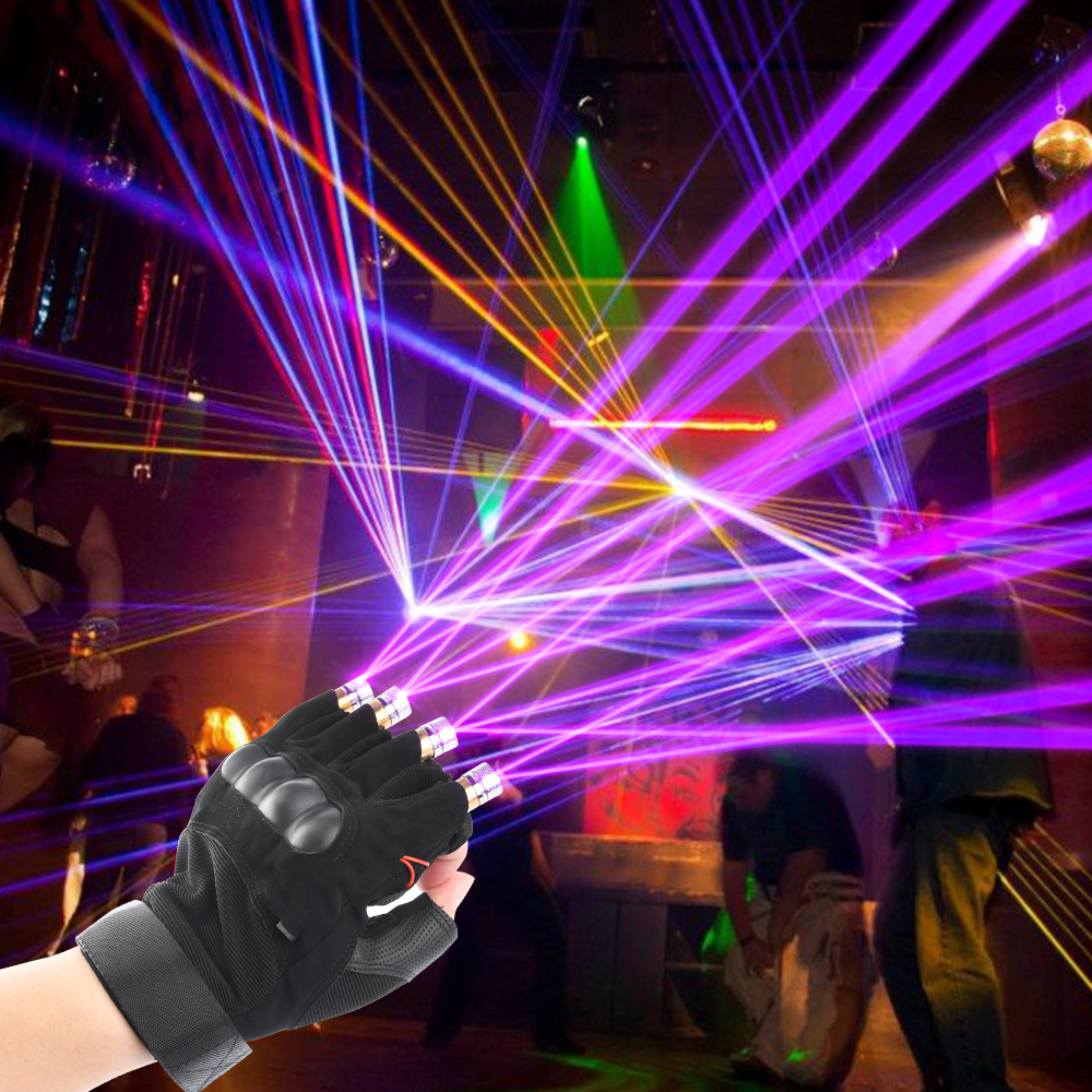 Red/Green/Purple Laser Gloves Dancing Stage Gloves Laser Palm Light For DJ Club/Party/Bars Stage Creative Performance Props