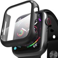 Protector de pantalla de vidrio templado para Apple Watch Serie 6 5 4 3 2 SE 44mm 40mm 42mm 38mm Iwatch 38 40 44 MM protección de película caso
