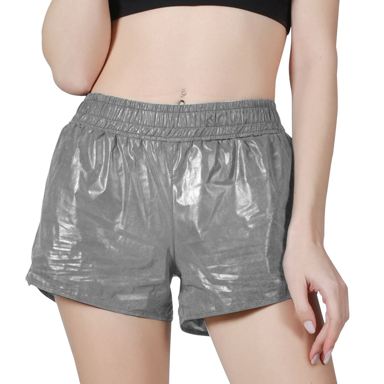 New 2019 Spring/summer Shorts Running Waterproof Polyester Fake Two-piece Reflective Shorts