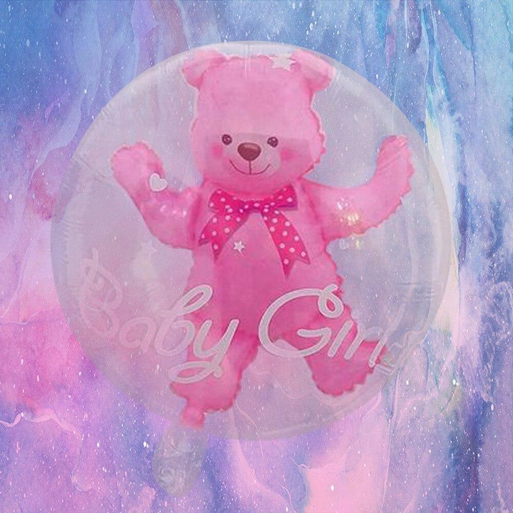 59 * 69cm Large Bubble Bear Aluminum Foil Helium Balloons Toys Boy Girl Wedding Decoration Birthday Baby Shower Theme Party Toys 5