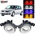2 X светодиодный Ангел глаз туман светильник передний бампер автомобиля противотуманной фары DRL Дневной светильник для Renault Clio 2/II хэтчбек) ...