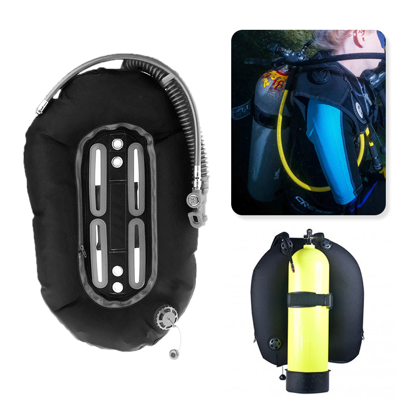 Scuba Diving Donut Wing 30lb/13.3kg with Single Tube Snorkeling  BCD Tech Back Plate for Professional Divers Tech EquipmentPool