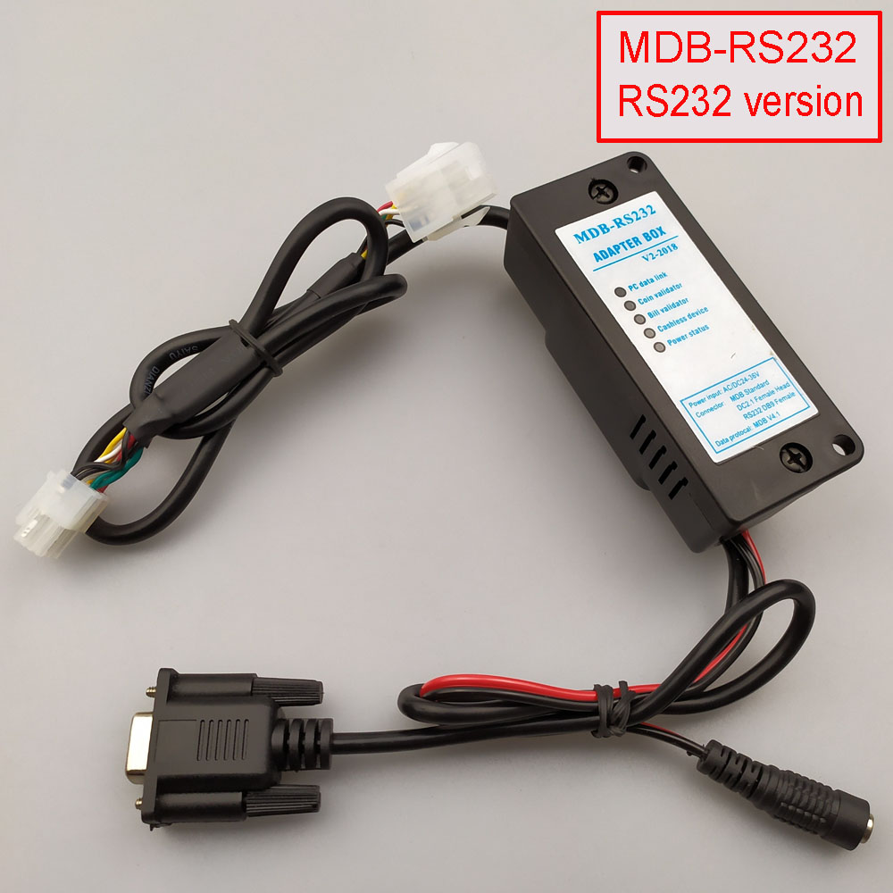 Купить с кэшбэком New 2019 MDB-RS232 MDB payment device  to PC RS232 converter (Support MDB coin validator,bill acceptor,cashless and USD device)