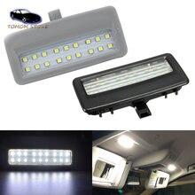 2 pçs 18smd led branco telhado do carro sol viseira espelho luzes de leitura para bmw f07 f10 f11 f01 f02 f03 f04 acessórios automóveis