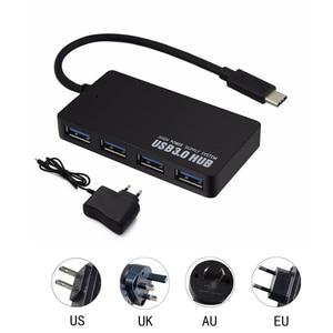 Type USB C HUB 4 Ports OTG USB