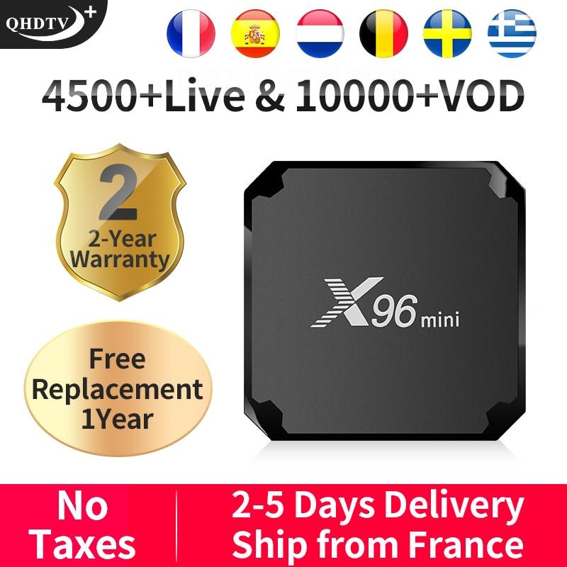 QHDTV Plus X96MINI IPTV France/Arabic/Italy/Spain Android 7.1 1+8G/2+16G France/Arabic/Italy/Spain/Belgium
