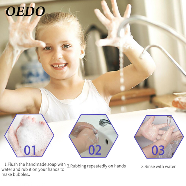 99.9% Antibacterial Handmade Soap Portable Fast Antibacterial Prevent Germ Infection Keep Hands Clean Lavender Soap 3