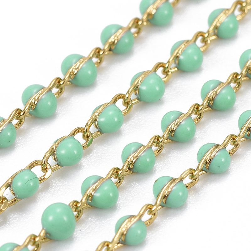 10Meters 4-8mm Fashion Irregular Spectrolite Beads Chains,Brass Handmade Pearls Chains Necklace DIY Jewelry Findings SS070