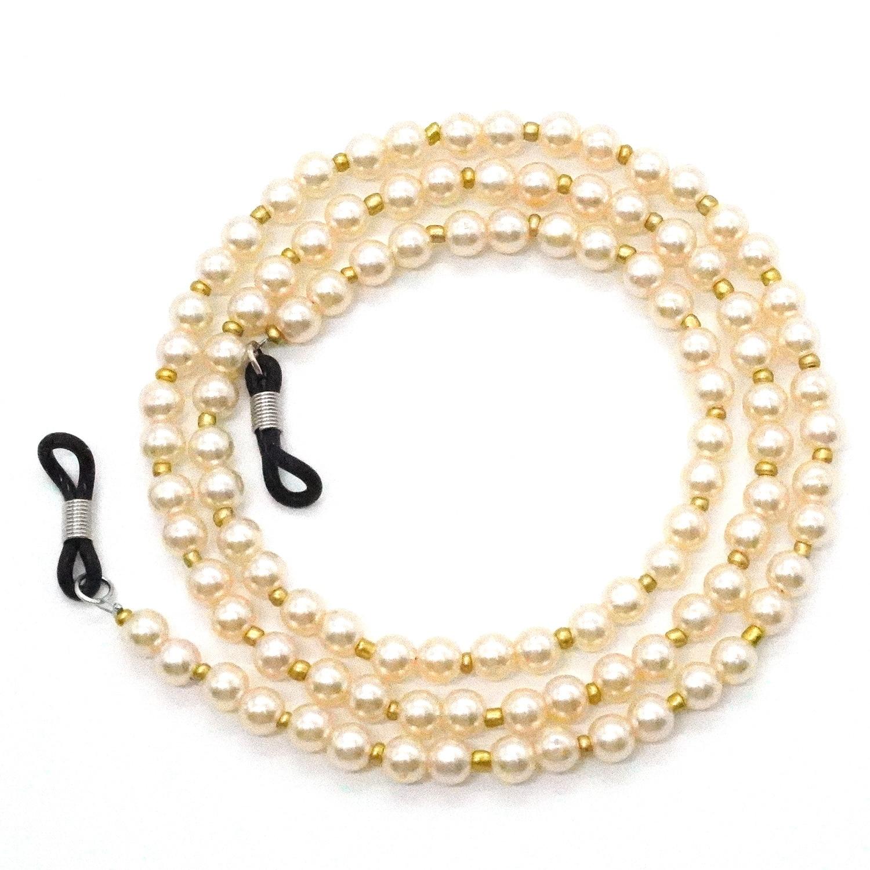 Women Luxury Delicate Handmade Pearl Beaded Sunglass Eyeglasses Reading Glasses Chain Cord Holder Sunglasses Accessories Jewelry