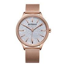 Ruimas Relojes Mujer Woman Watch 2019 Luxury Quartz Rose Gold Wristwatch Waterproof Mesh Band Birthday Gifts Clock 524